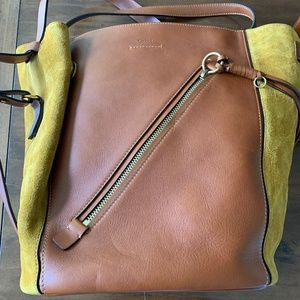 Chloe Myer Leather and Suede Convertible Tote Bag